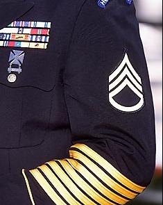 Gladstones military arm stripes